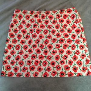 J Crew floral skirt with pockets